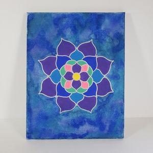 3/$30 Mandala Canvas Painting Watercolor & Acrylic